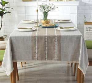 Thick Yarn-Dyed Tablecloth - The Home Empire