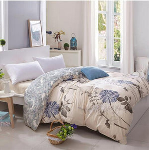 Cream Floral Duvet Cover - The Home Empire