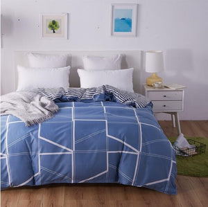 Blue Pattern Duvet Cover - The Home Empire
