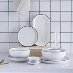 White Dinner Plate Set - The Home Empire