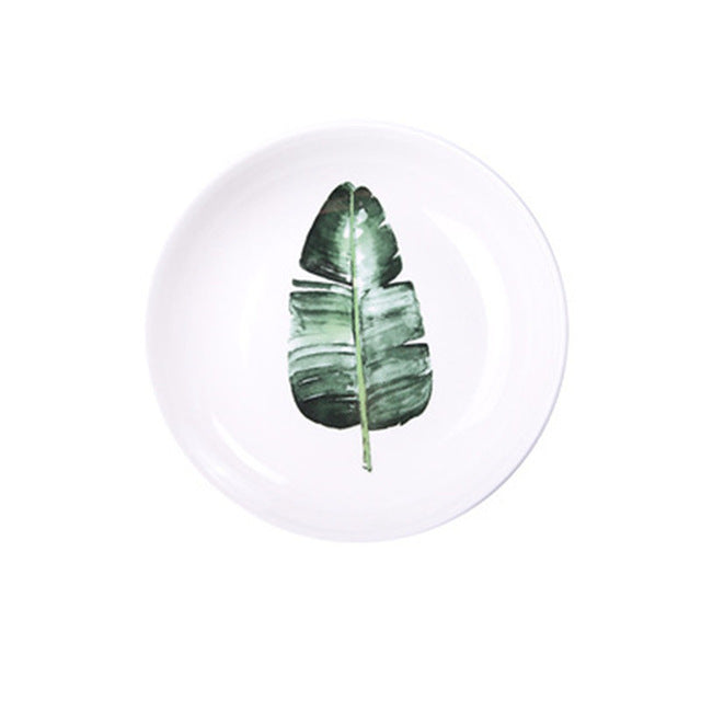 Leaf Printed Kitchen Tableware - The Home Empire