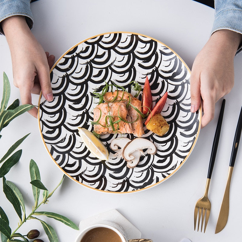 Eleutheria Ceramic Dinner Plates - The Home Empire