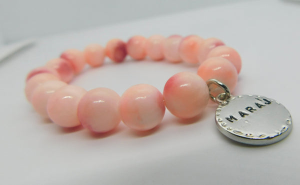 Shades of Pink Bead Bracelet