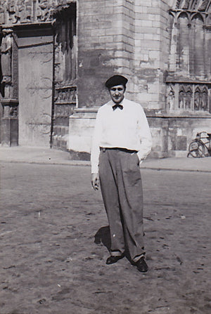 Vincent Price in France with Beret