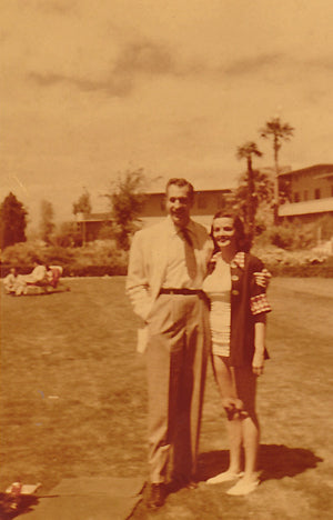 Vincent Price with Aunt Jane