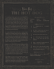 Limited Edition Two-Sided Photo: The Hot Dog Recipe