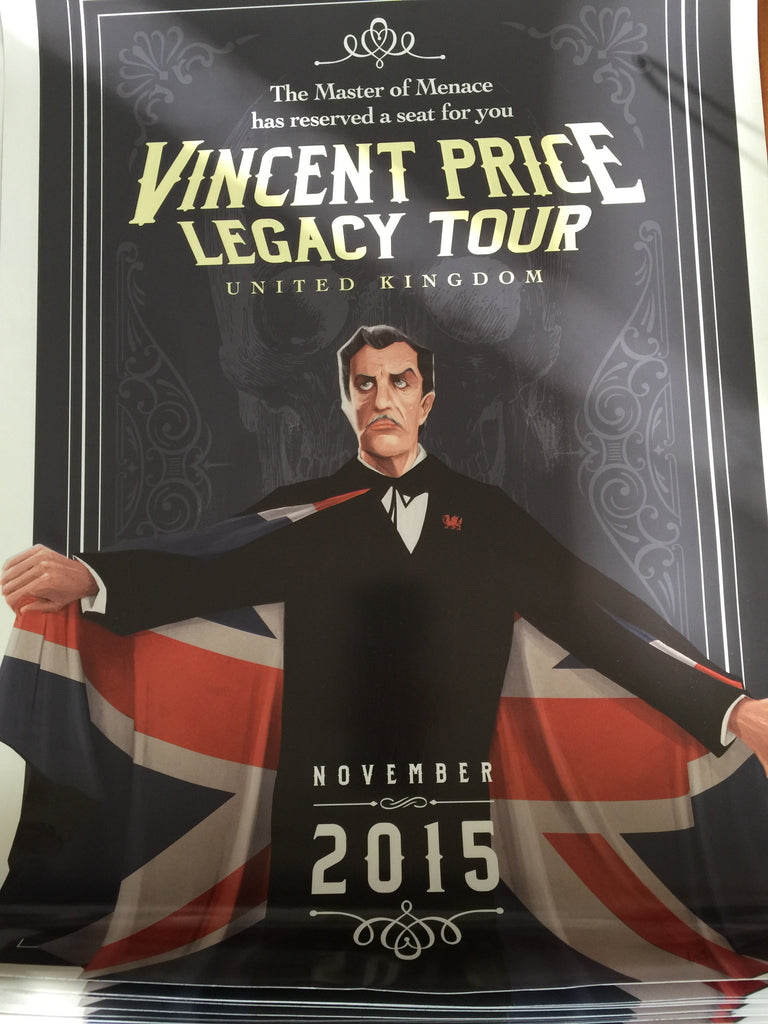 Limited Edition Aaron Lea Vincent Price UK Legacy Poster