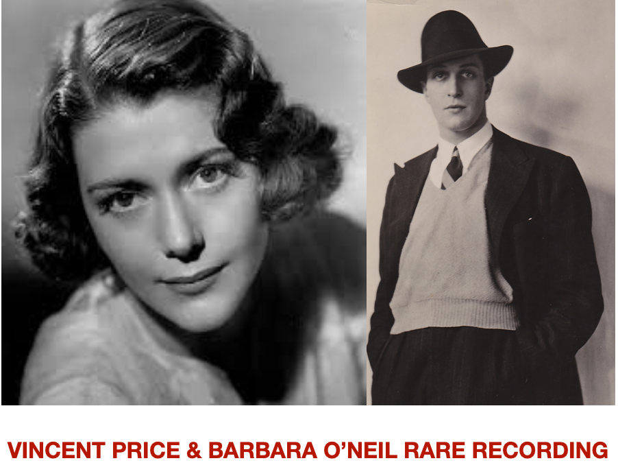 Digital Download of Rare 1930s Recording: Vincent Price & Barbara O'Neill (Victoria Regina)