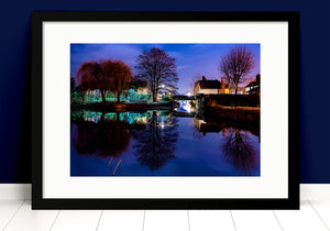 Paul Crowley Folly Hertford Photograph in a black frame