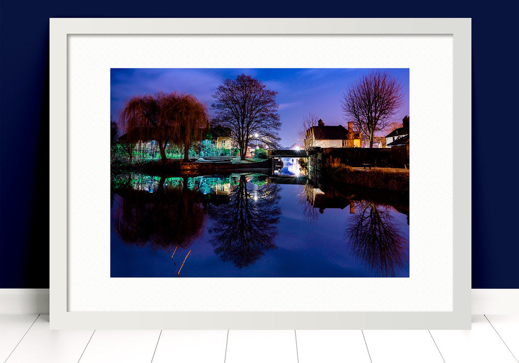 Paul Crowley Folly Hertford Photograph in a white frame