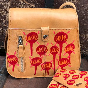 Hazel Saddle bag 'Love Life' by Nick Shipton