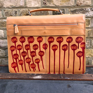 Hornbeam Large Briefcase 'Love Life' by Nick Shipton