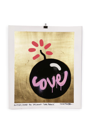 Artists Proof 24 carat Love Bomb