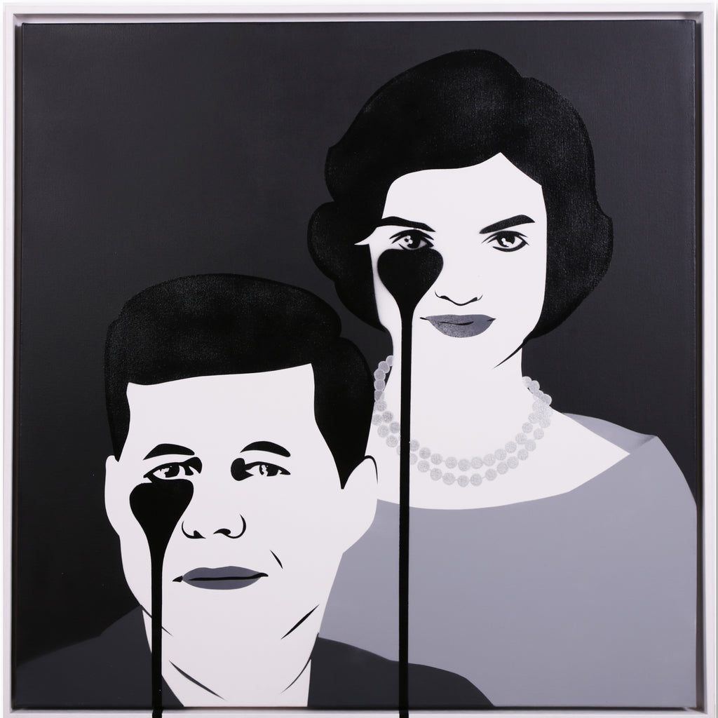 JFK & JACKIE Monochrome Framed