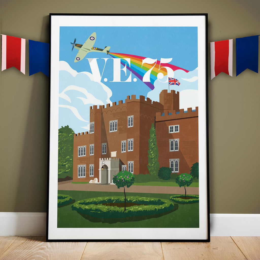 Limited Edition VE Day Rainbow Print