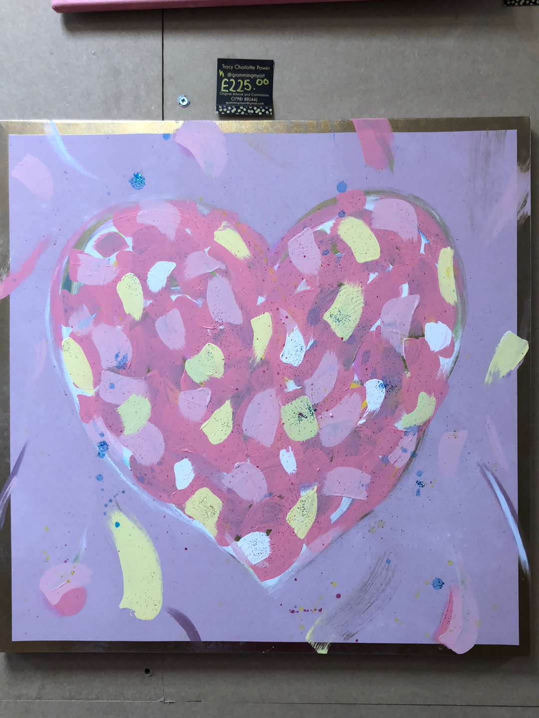 Large Heart Brushstrokes