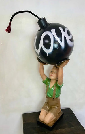 Love Bomb sculpture