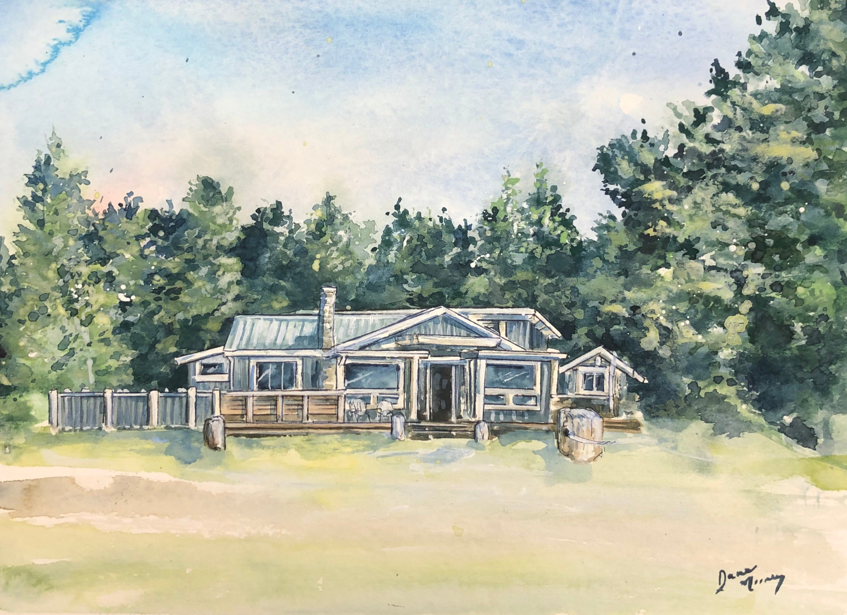 Custom home watercolour