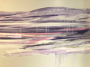 Abstract Landscape Wall Mural, Fruition Skin Therapy North Vancouver