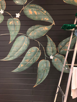 Custom Botanical Mural, Saje Natural Wellness Abbotsford BC