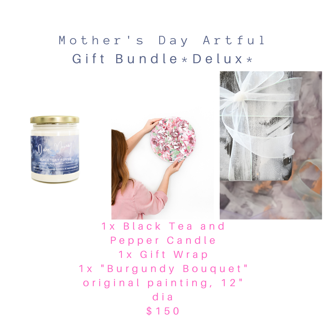 Mother's Day Gift Bundle - Burgundy Bouquet