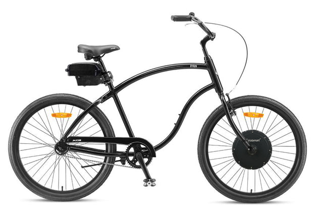 "XDS Byron Mens 26"" Cruiser - Gloss Black 48v 500w eBike electric bike"