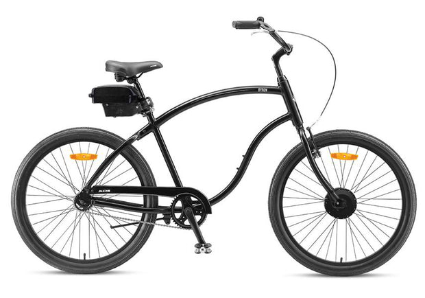 "XDS Byron Mens 26"" Cruiser - Gloss Black 36v 250w eBike electric bike"