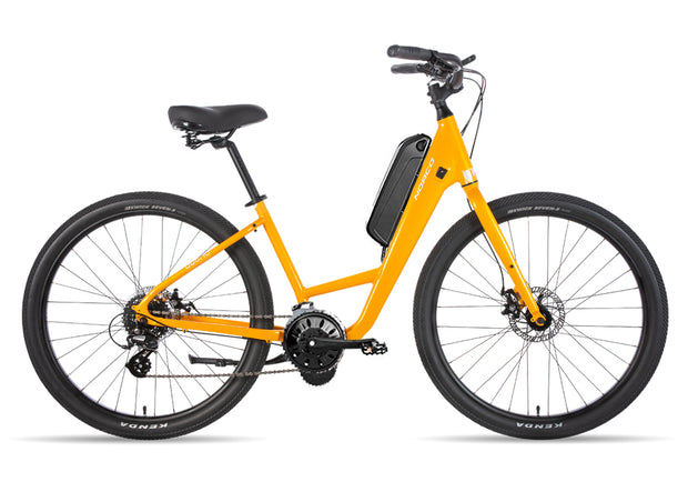 Scene 3 Step Through 250w Electric Bike Sunburst Yellow