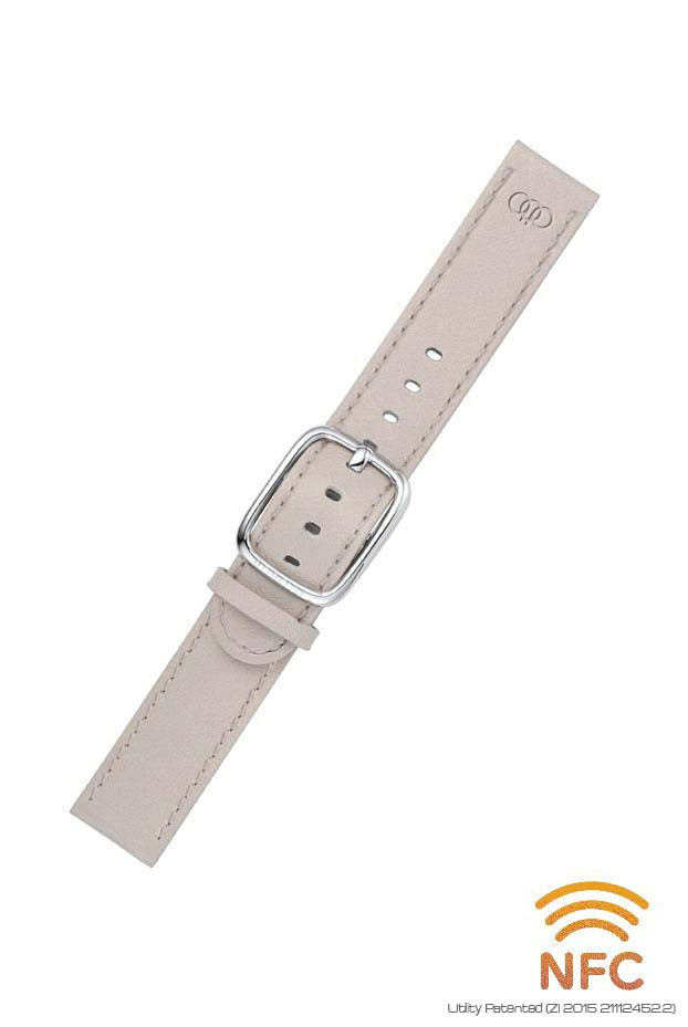 NFC Grey Leather Strap
