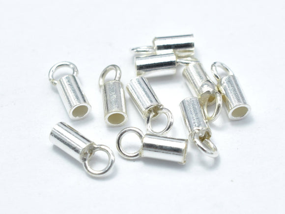 20pcs 925 Sterling Silver Cord End Cap, 6.5x2.2mm-BeadXpert