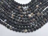 Matte Banded Agate Beads, 8mm Round Beads