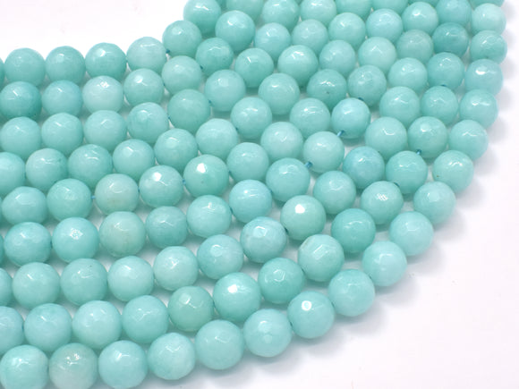 Jade-Light Blue, 8mm Faceted Round