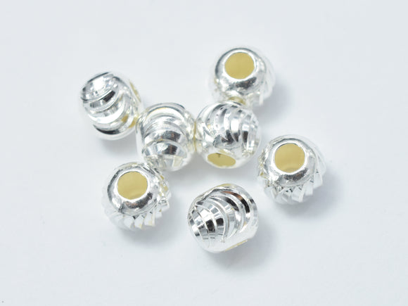 10pcs 6mm 925 Sterling Silver Beads, 6mm x 5.2mm Rondelle Beads-BeadXpert