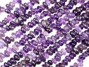 Amethyst Beads, Pebble Chips, 6mm-10mm-BeadXpert
