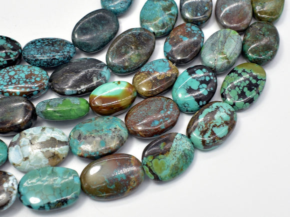 Genuine Turquoise, Approx (10-14)mmx(15-18)mm Oval Beads-BeadXpert