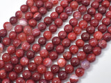 Red Fire Agate, 6mm Round Beads-BeadXpert