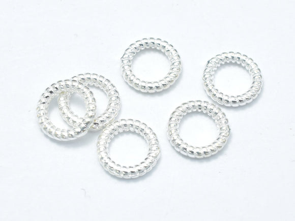 6pcs 925 Sterling Silver Jump Ring-Closed, 7.8mm, 1.5mm (18guage),-BeadXpert