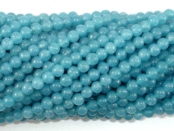 Blue Sponge Quartz Beads, Round, 4mm-BeadXpert