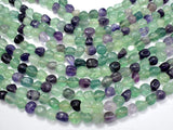 Fluorite Beads, Approx 8x10mm Nugget Beads, 15.5 Inch-BeadXpert