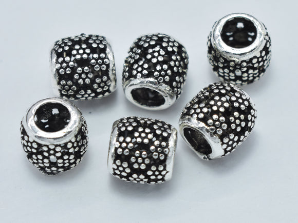 4pcs 925 Sterling Silver Bead, Drum Beads, Spacer Beads, 6x6mm-BeadXpert