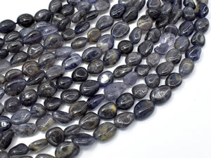 Iolite Beads, Approx 6x8mm Nugget Beads-BeadXpert