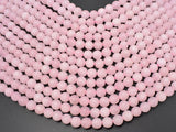 Matte Rose Quartz Beads, 8mm Round beads-BeadXpert