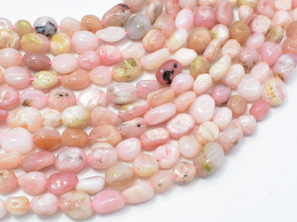 Pink Opal Beads, Approx 6x8mm Nugget Beads-BeadXpert
