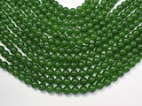 Jade Beads-Green, 8mm (8.3mm) Round Beads-BeadXpert