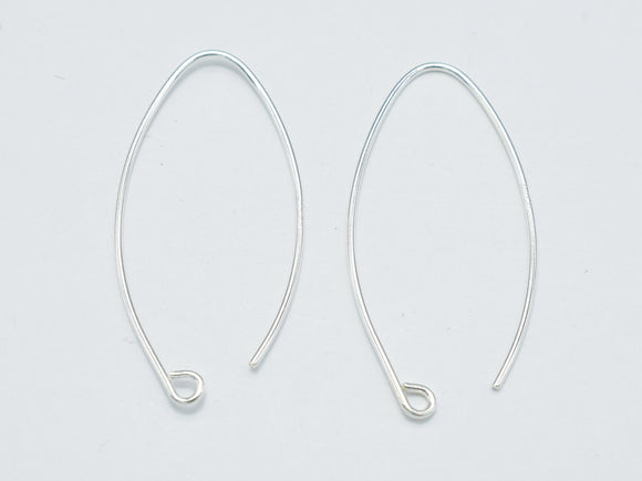 4pcs 925 Sterling Silver Arc Earwire, 20gauge Earring Hook