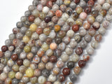 Mexican Crazy Lace Agate Beads, 6mm Round Beads