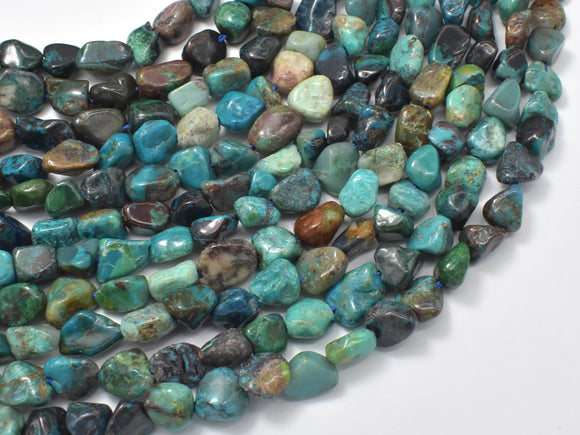 Chrysocolla-Natural , Approx 6x8mm Nugget Beads-BeadXpert