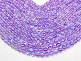 Mystic Aura Quartz-Purple, 8mm (8.5mm) Round-BeadXpert