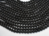 Black Lava Beads, Round, 8mm-BeadXpert