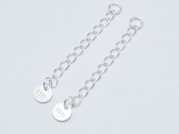 4pcs 925 Sterling Silver Extension Chain-BeadXpert